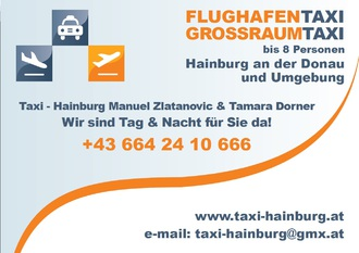 Flughafentransfer Wien, Taxi Hainburg, Tamara Dorner